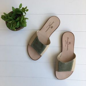 [Tommy Bahama] Slip on Contrast Sandals Tropical